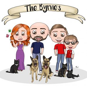Family Portrait - Amy Newlands Creative Cartoons